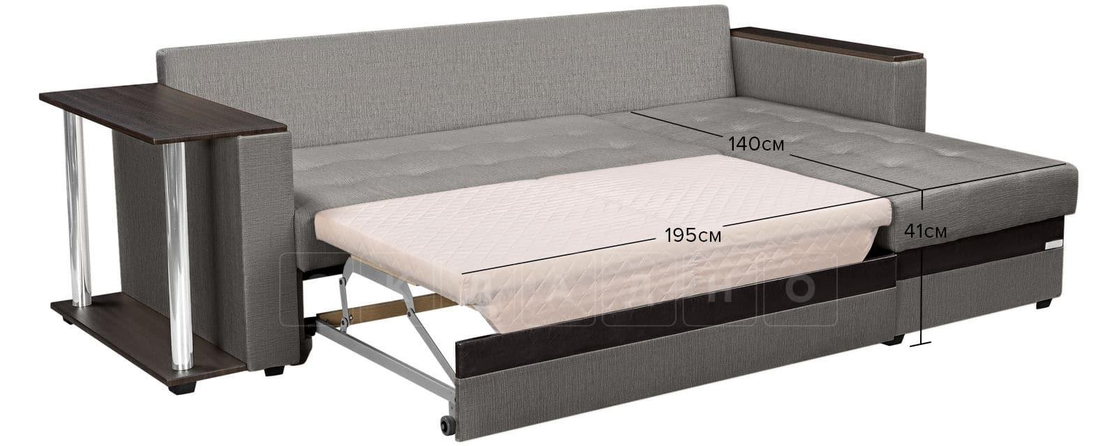 Угловой диван Атланта рогожка серого цвета фото 11 | интернет-магазин Складно