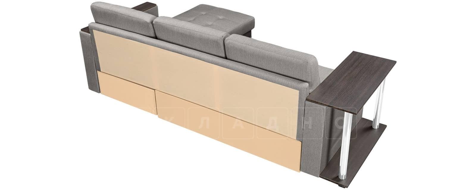 Угловой диван Атланта рогожка серого цвета фото 3 | интернет-магазин Складно