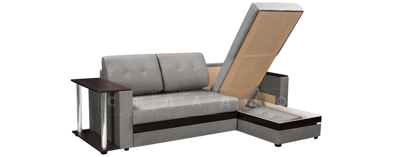 Угловой диван Атланта рогожка серого цвета фото 4 | интернет-магазин Складно