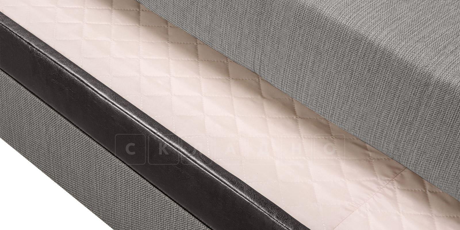 Угловой диван Атланта рогожка серого цвета фото 6 | интернет-магазин Складно