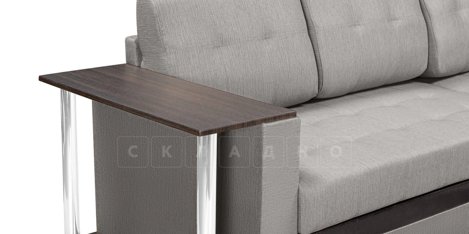 Угловой диван Атланта рогожка серого цвета фото 7 | интернет-магазин Складно
