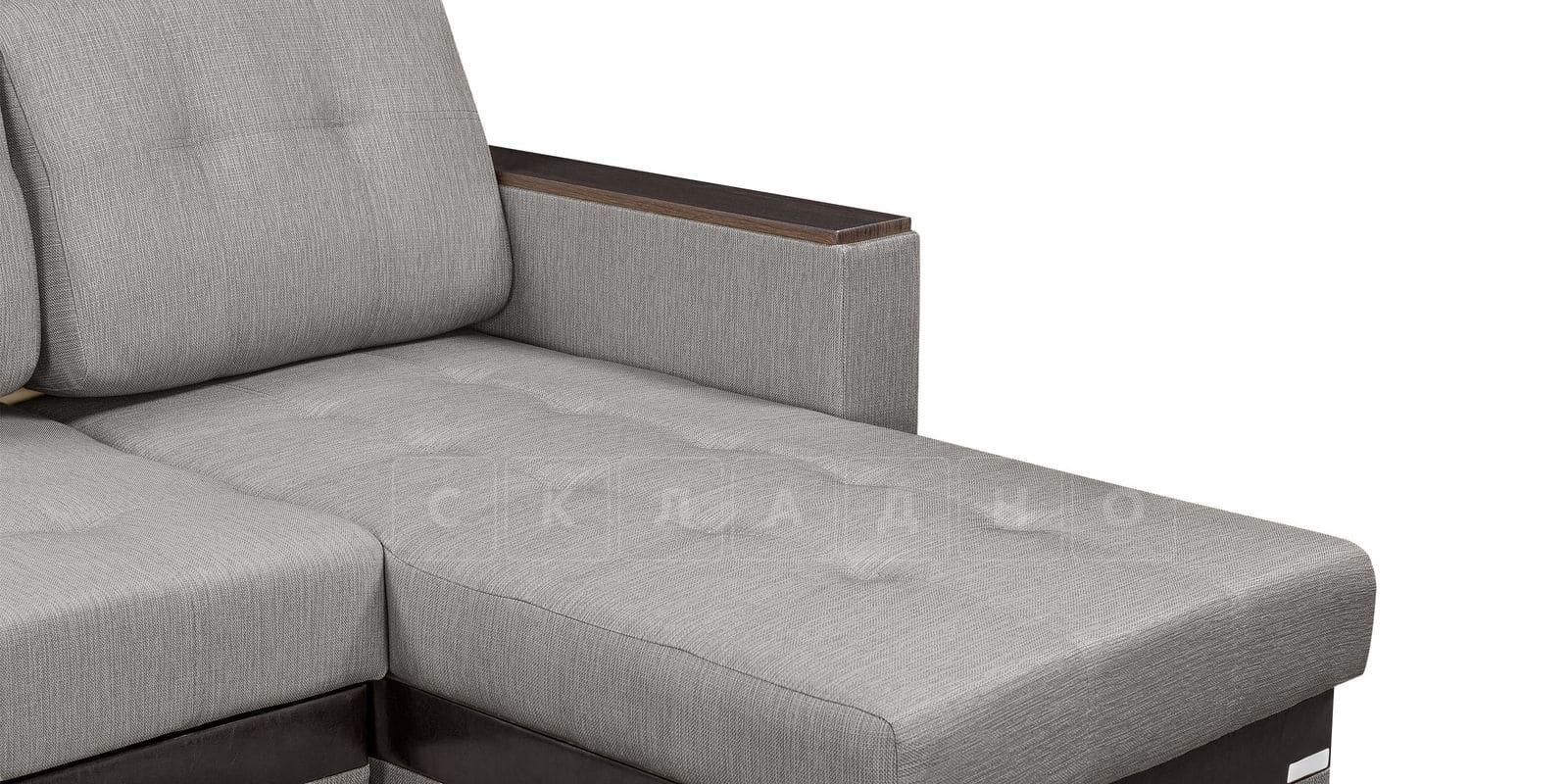Угловой диван Атланта рогожка серого цвета фото 8 | интернет-магазин Складно