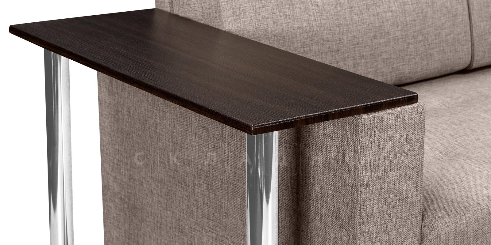 Угловой диван Атланта рогожка темно-бежевого цвета фото 4 | интернет-магазин Складно