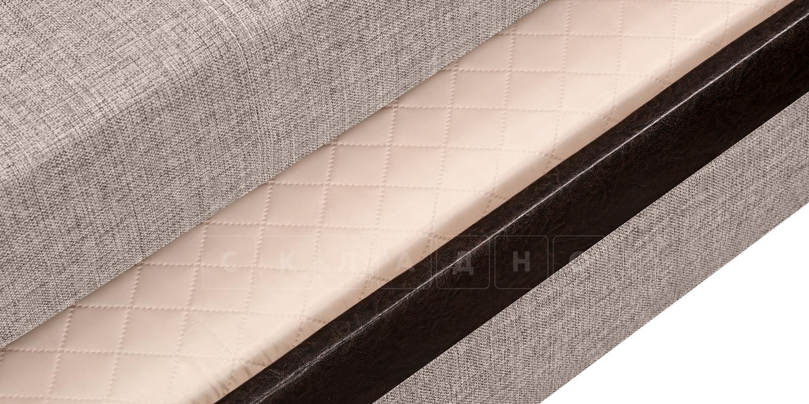 Угловой диван Атланта рогожка темно-бежевого цвета фото 5 | интернет-магазин Складно