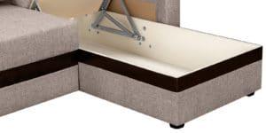 Угловой диван Атланта рогожка темно-бежевого цвета 20950 рублей, фото 6 | интернет-магазин Складно