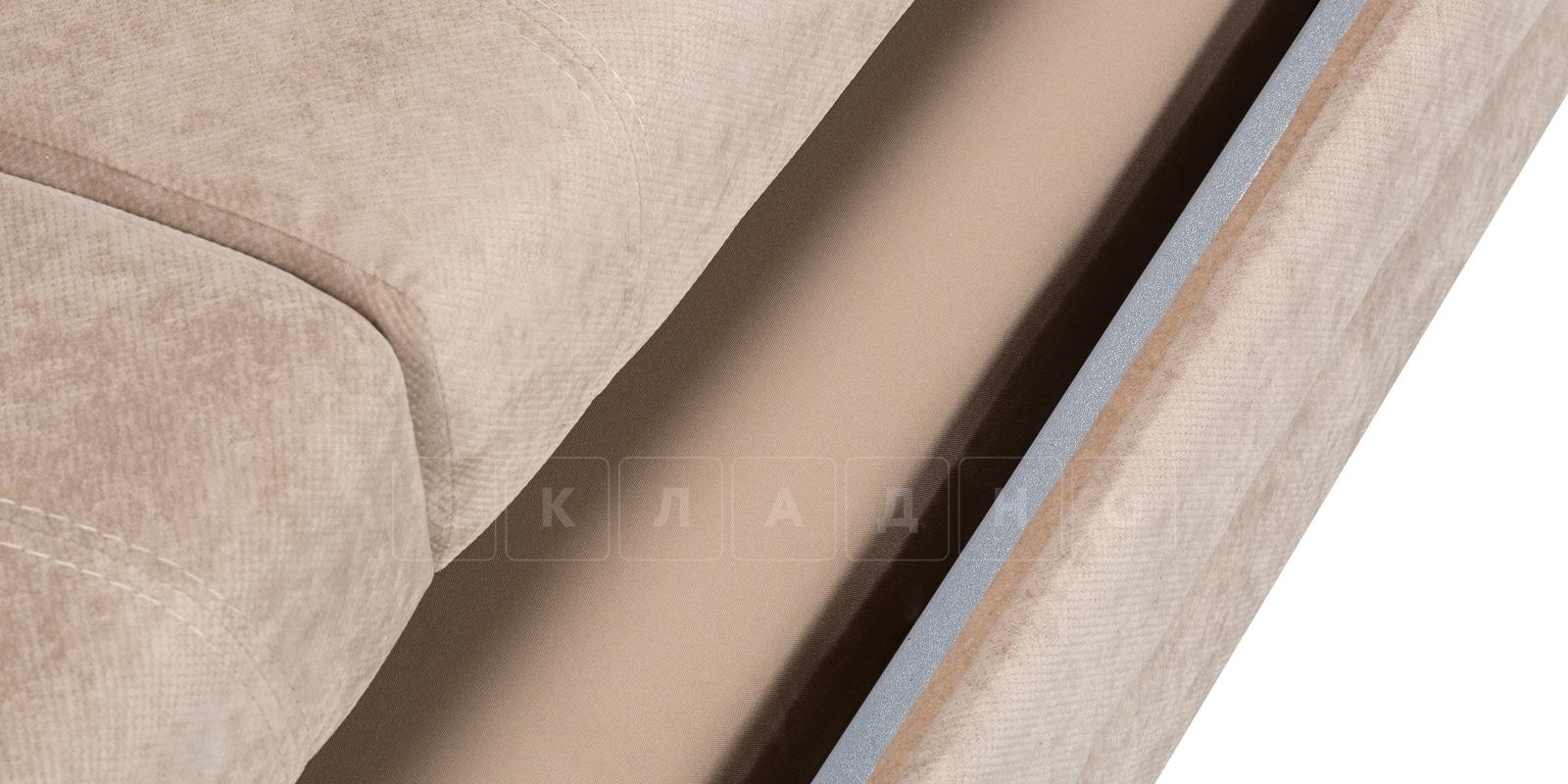 Диван Бристоль флок бежевый фото 8 | интернет-магазин Складно