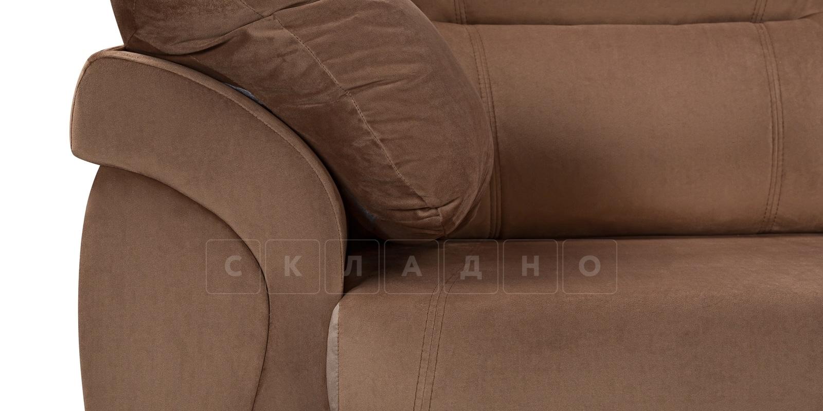 Диван Бристоль велюр коричневый фото 5 | интернет-магазин Складно