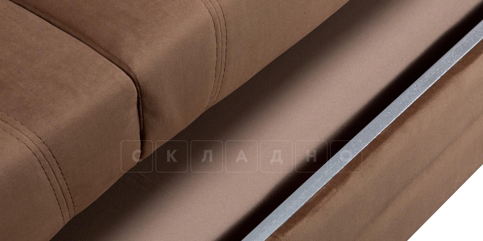 Диван Бристоль велюр коричневый фото 7 | интернет-магазин Складно
