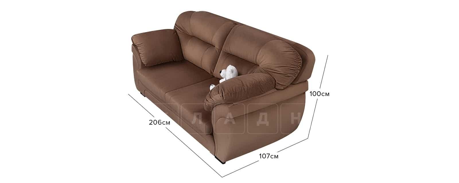 Диван Бристоль велюр коричневый фото 9 | интернет-магазин Складно
