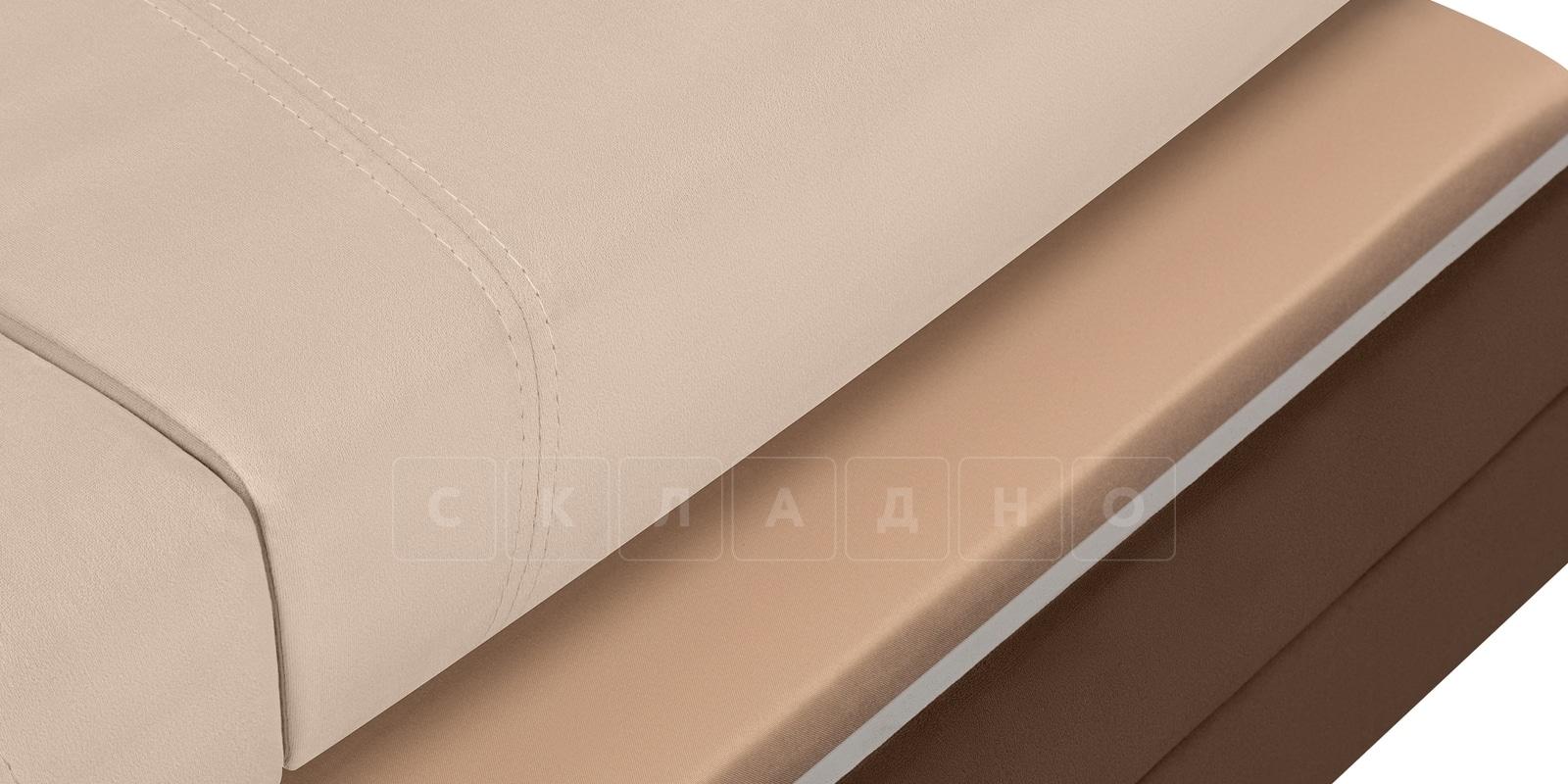 Диван Бристоль велюр бежевый с коричневым фото 7 | интернет-магазин Складно
