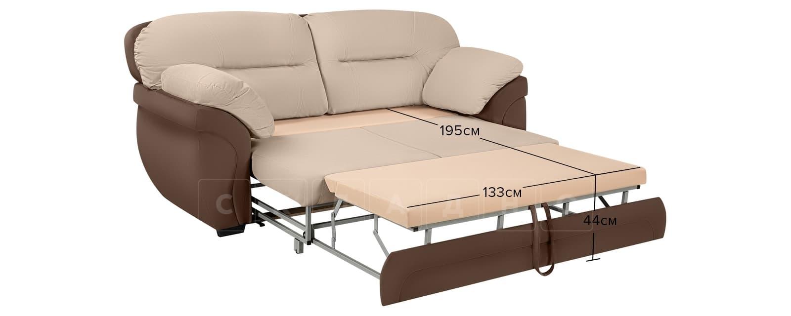 Диван Бристоль велюр бежевый с коричневым фото 10 | интернет-магазин Складно