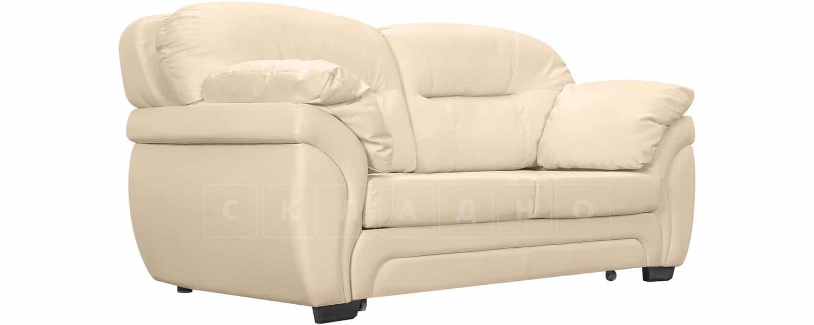 Диван Бристоль кожаный бежевого цвета фото 1 | интернет-магазин Складно