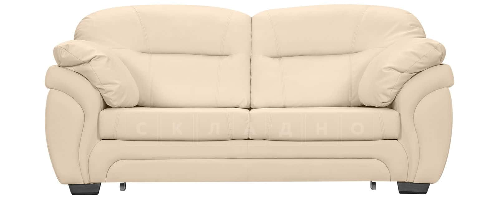 Диван Бристоль кожаный бежевого цвета фото 2 | интернет-магазин Складно