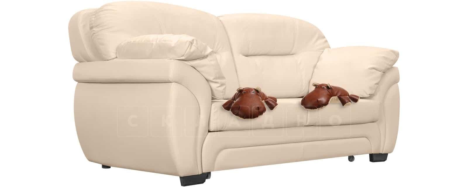 Диван Бристоль кожаный бежевого цвета фото 5 | интернет-магазин Складно