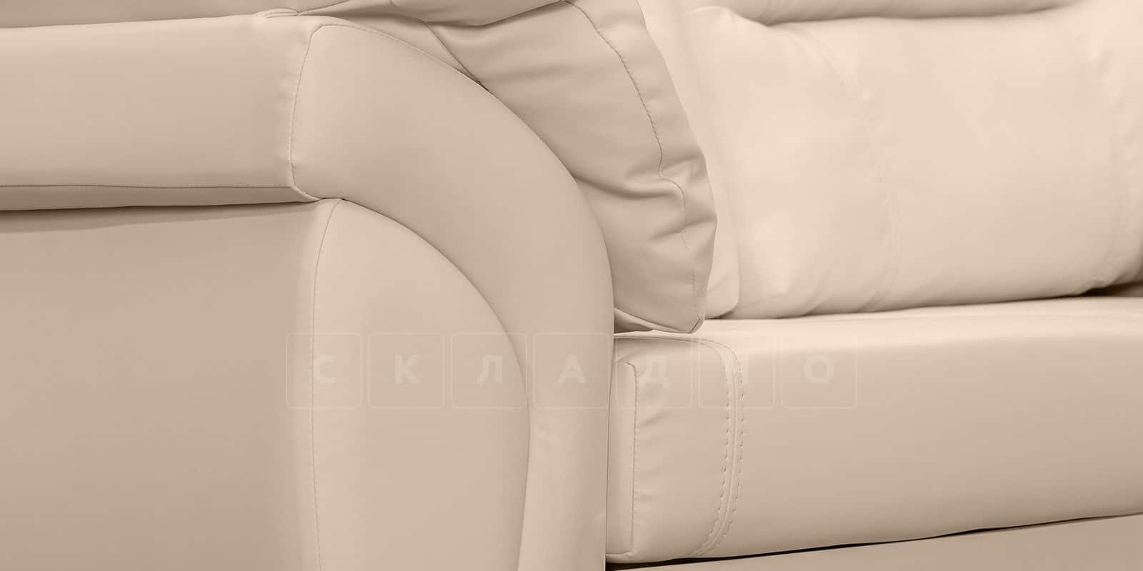 Диван Бристоль кожаный бежевого цвета фото 7 | интернет-магазин Складно