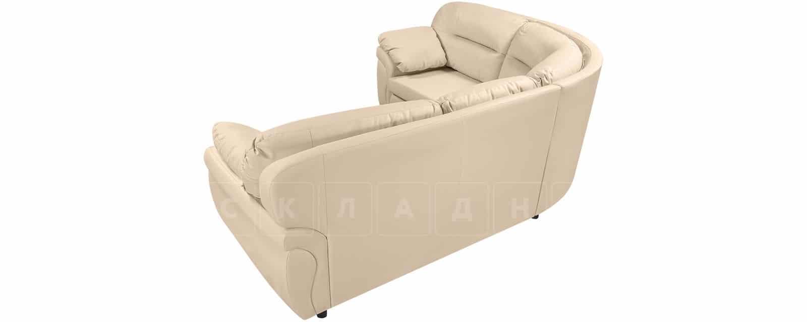 Диван угловой Бристоль кожаный бежевого цвета левый угол фото 3   интернет-магазин Складно