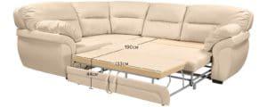 Диван угловой Бристоль кожаный бежевого цвета левый угол 68950 рублей, фото 11   интернет-магазин Складно