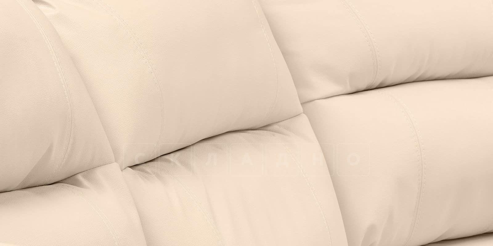 Диван угловой Бристоль кожаный бежевого цвета правый угол фото 6 | интернет-магазин Складно