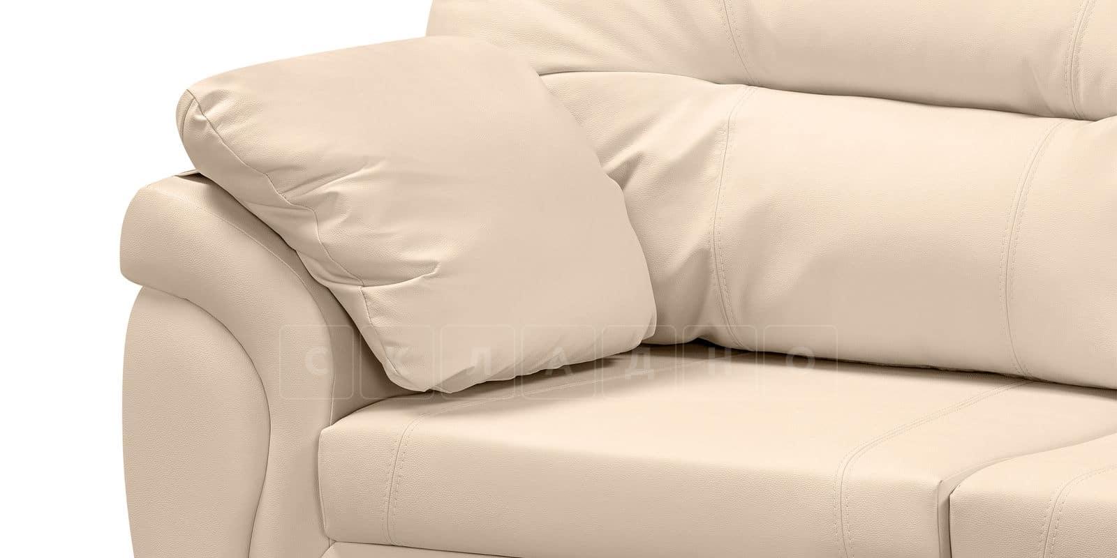 Диван угловой Бристоль кожаный бежевого цвета левый угол фото 7 | интернет-магазин Складно
