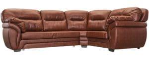 Диван угловой Бристоль кожаный коричневого цвета правый угол-3930 фото | интернет-магазин Складно