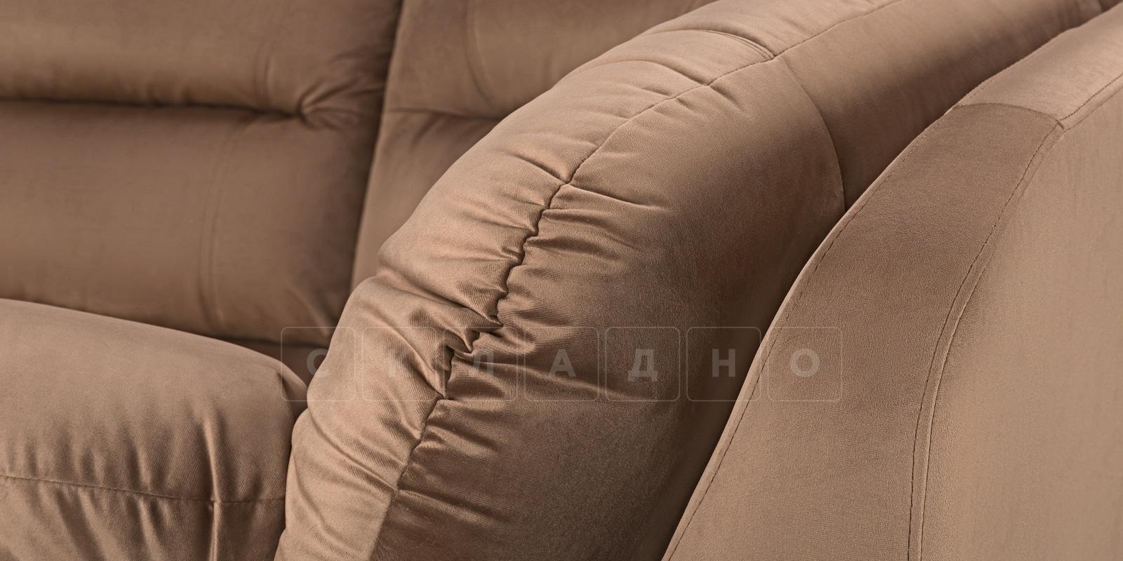 Диван угловой Бристоль велюр коричневый правый угол фото 5 | интернет-магазин Складно