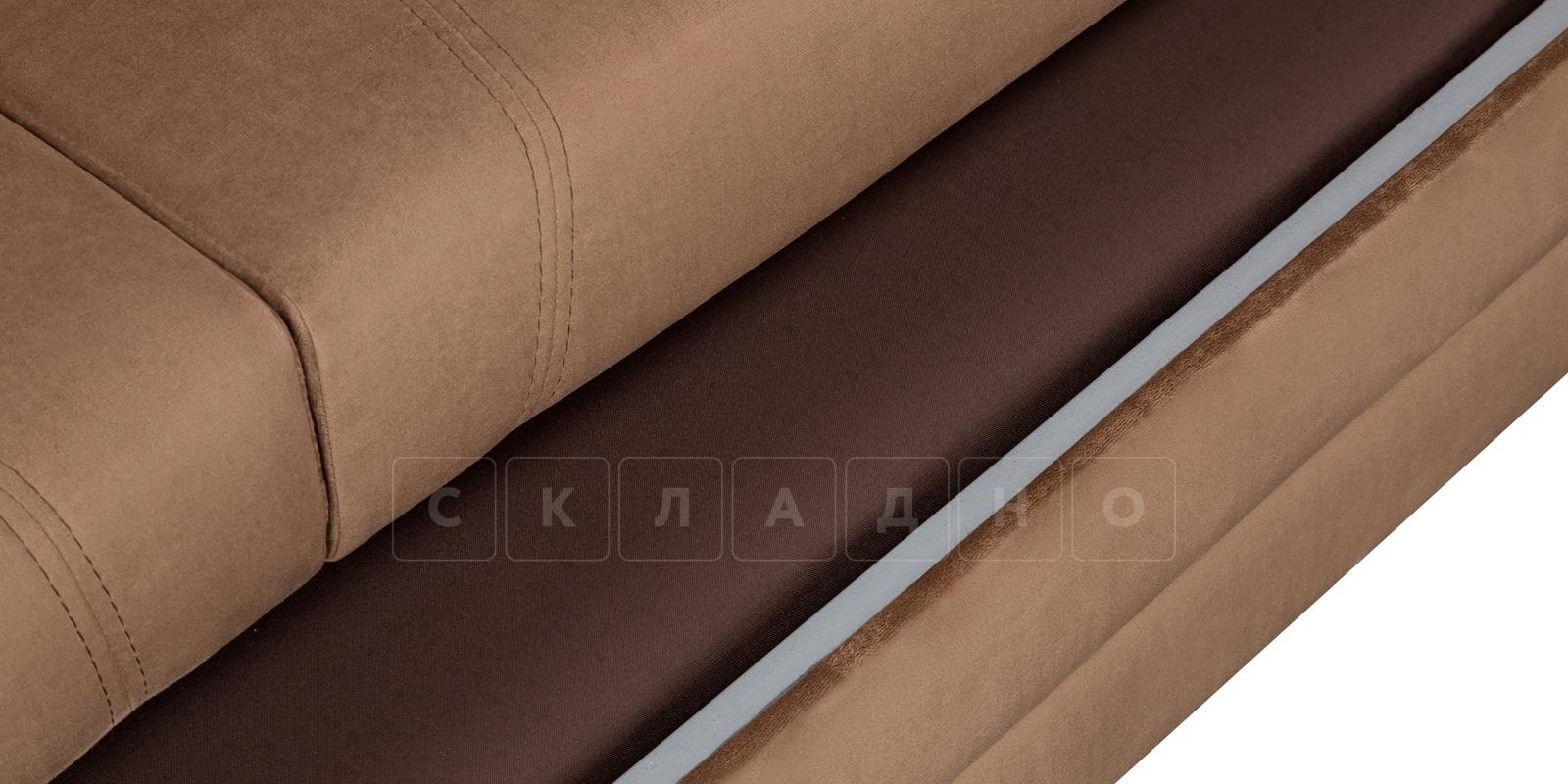 Диван угловой Бристоль велюр коричневый правый угол фото 6 | интернет-магазин Складно