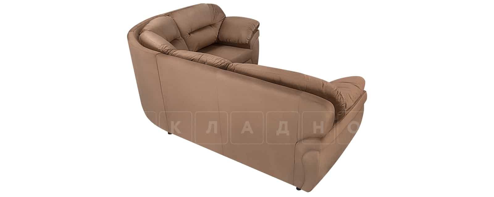 Диван угловой Бристоль велюр коричневый правый угол фото 3 | интернет-магазин Складно