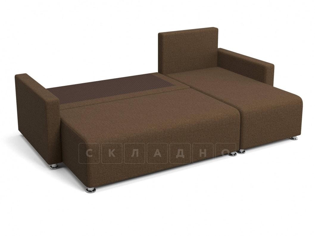 Угловой диван Челси коричневый фото 4 | интернет-магазин Складно