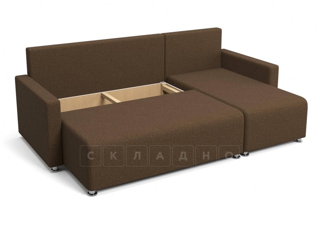 Угловой диван Челси коричневый фото 5 | интернет-магазин Складно