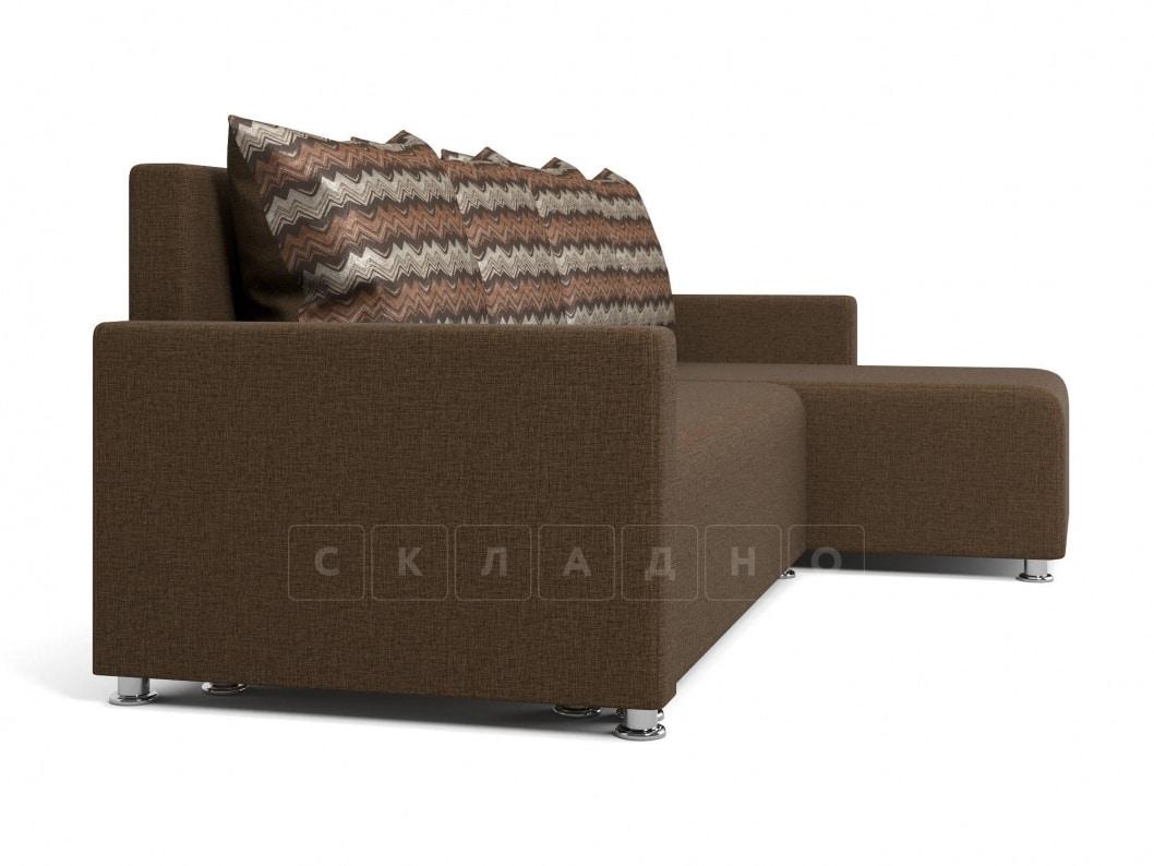 Угловой диван Челси коричневый фото 3 | интернет-магазин Складно