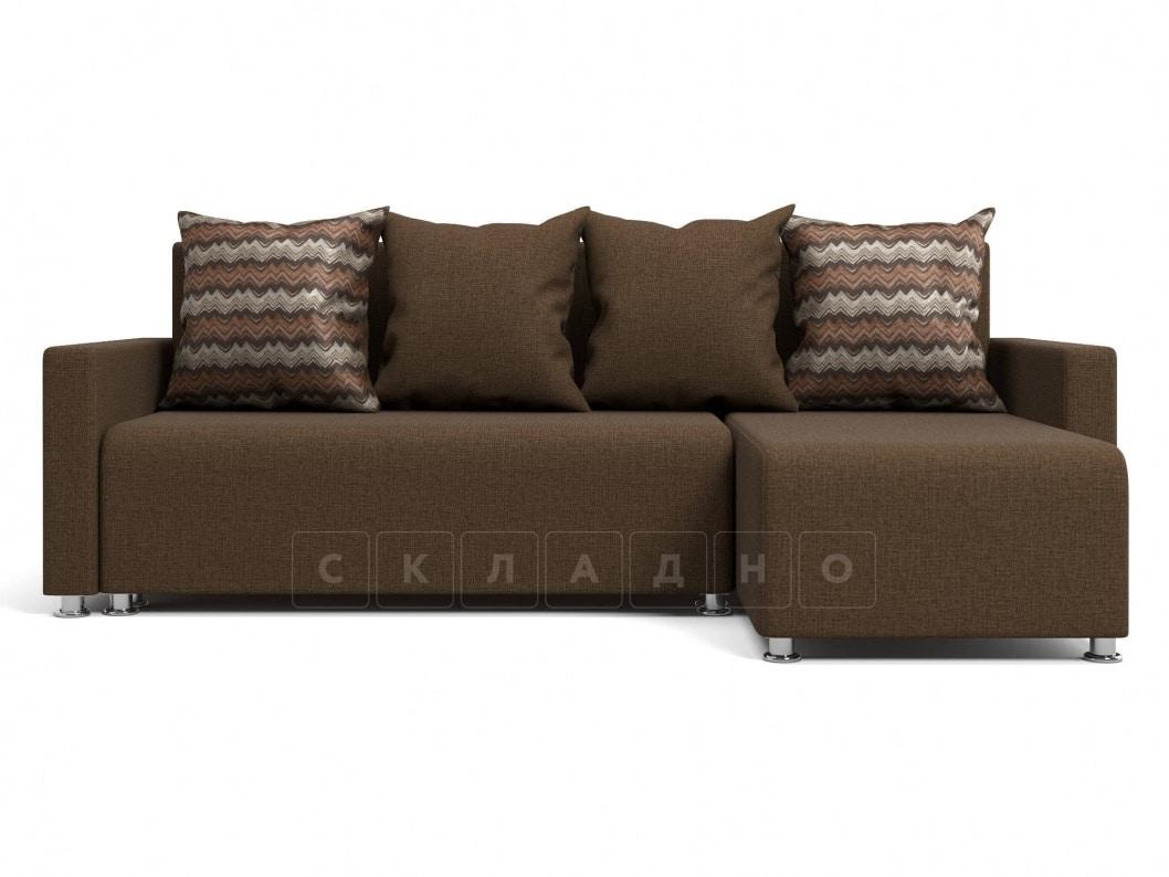 Угловой диван Челси коричневый фото 2 | интернет-магазин Складно