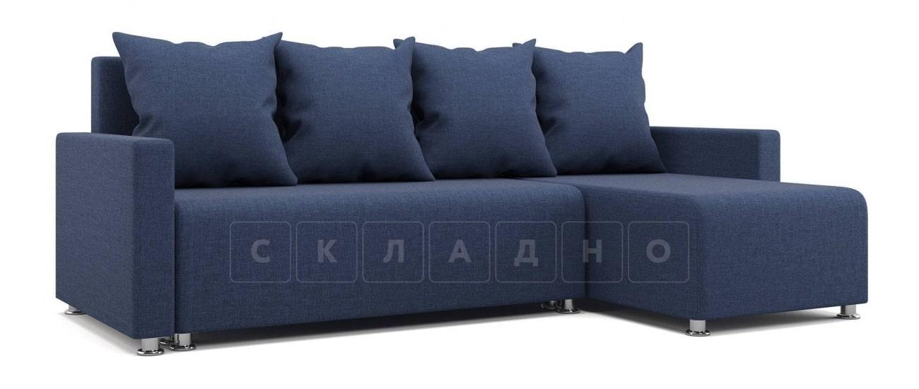 Угловой диван Челси темно-синий фото 1 | интернет-магазин Складно