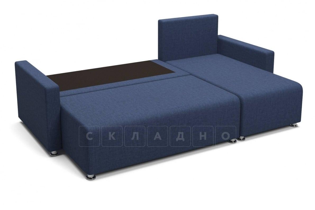Угловой диван Челси темно-синий фото 4 | интернет-магазин Складно