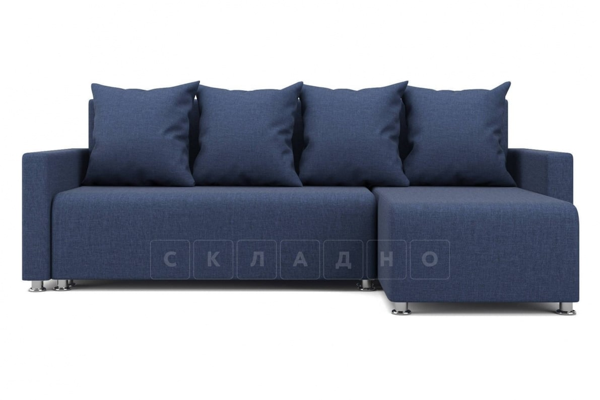 Угловой диван Челси темно-синий фото 2 | интернет-магазин Складно