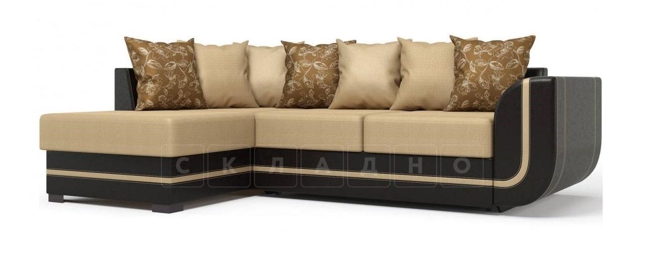 Угловой диван Чикаго коричневый левый фото 1 | интернет-магазин Складно