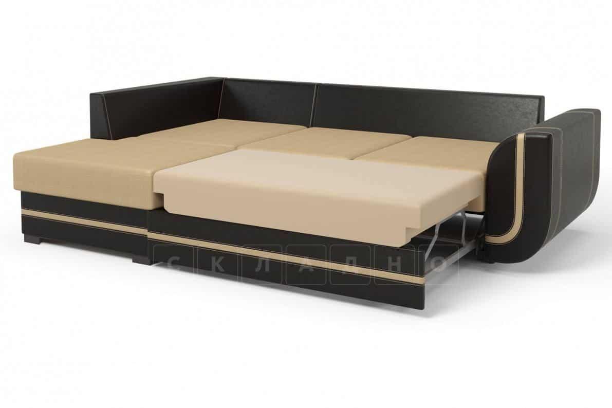 Угловой диван Чикаго коричневый левый фото 3 | интернет-магазин Складно