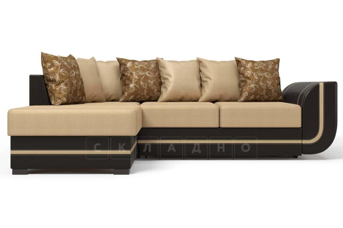 Угловой диван Чикаго коричневый левый фото 2 | интернет-магазин Складно
