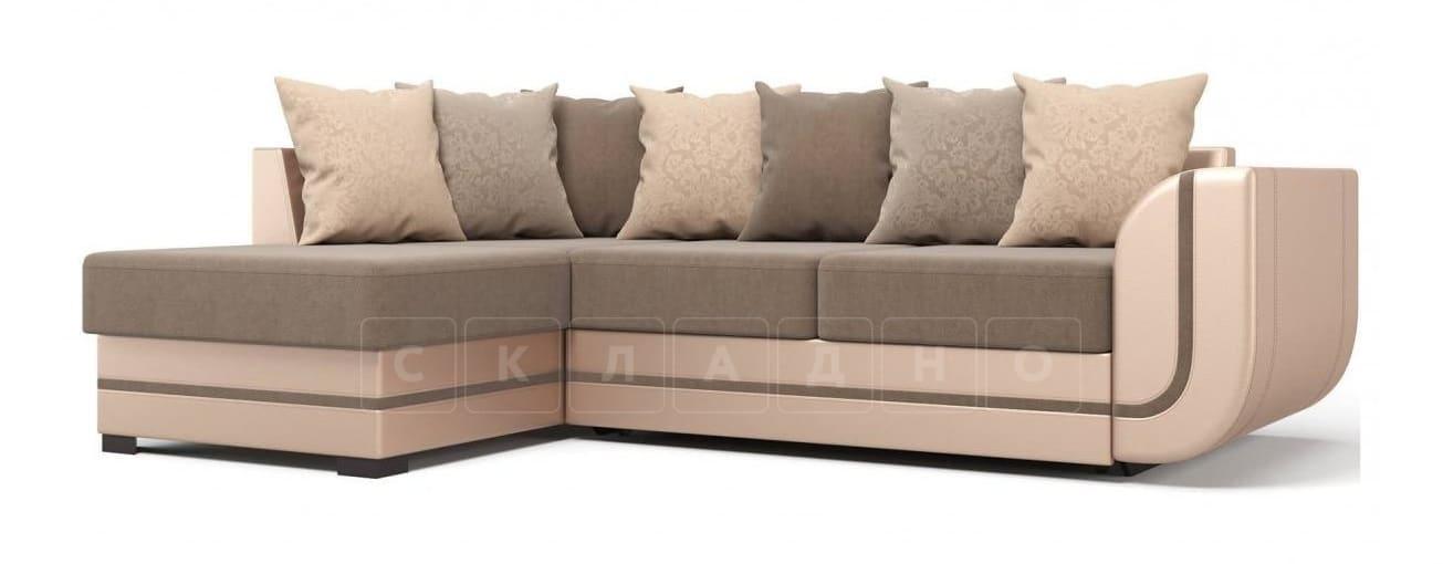 Угловой диван Чикаго песочного цвета левый фото 1 | интернет-магазин Складно