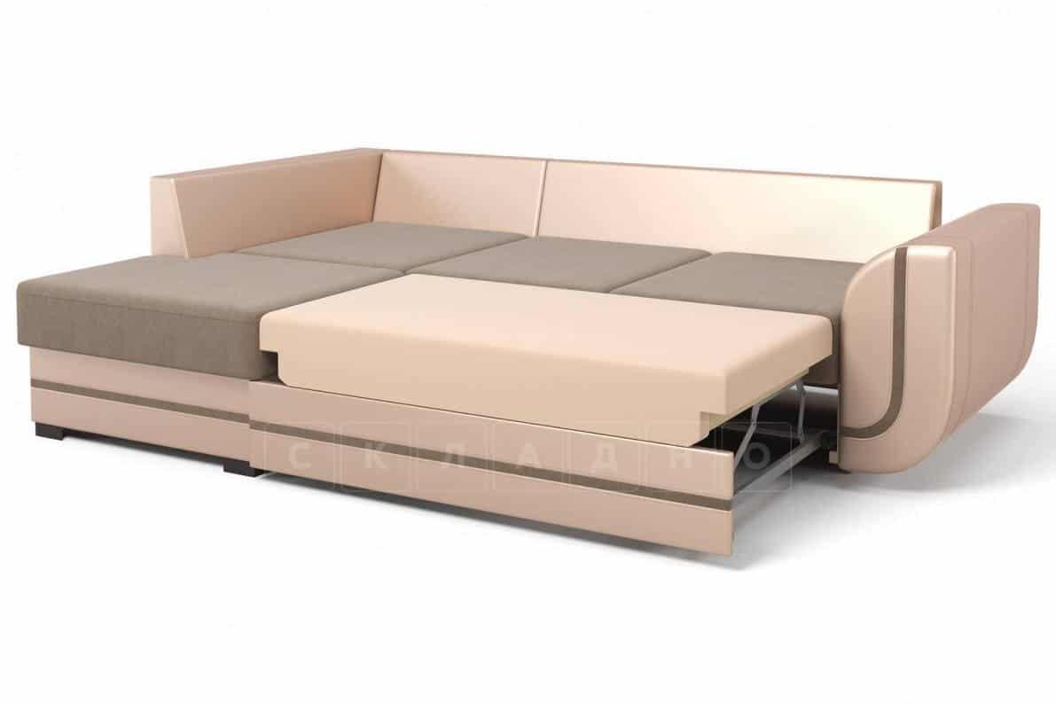 Угловой диван Чикаго песочного цвета левый фото 3 | интернет-магазин Складно