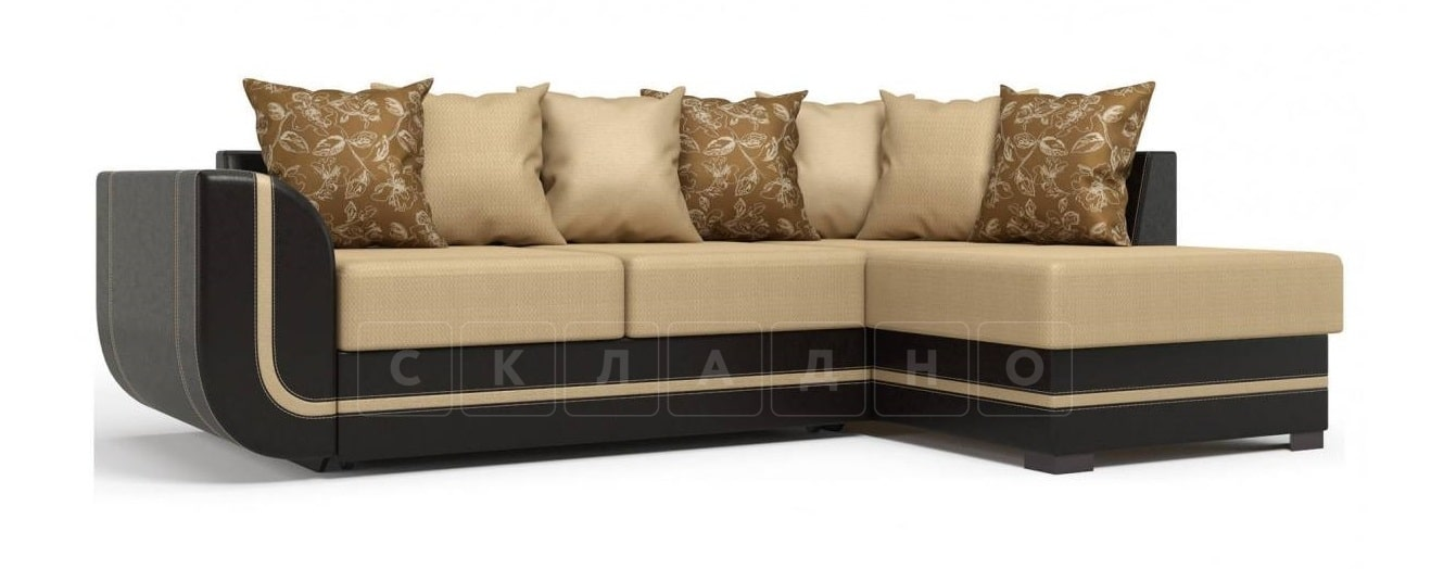 Угловой диван Чикаго коричневый правый фото 1 | интернет-магазин Складно