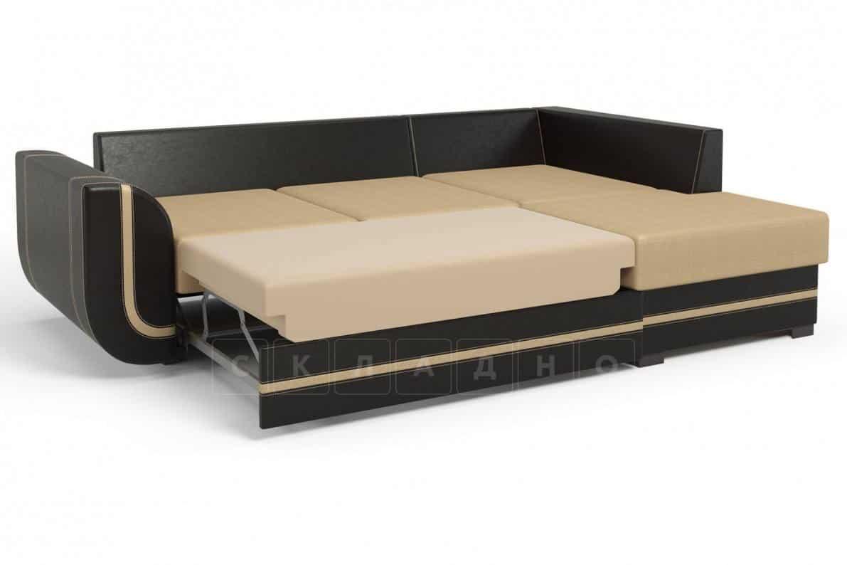Угловой диван Чикаго коричневый правый фото 3 | интернет-магазин Складно
