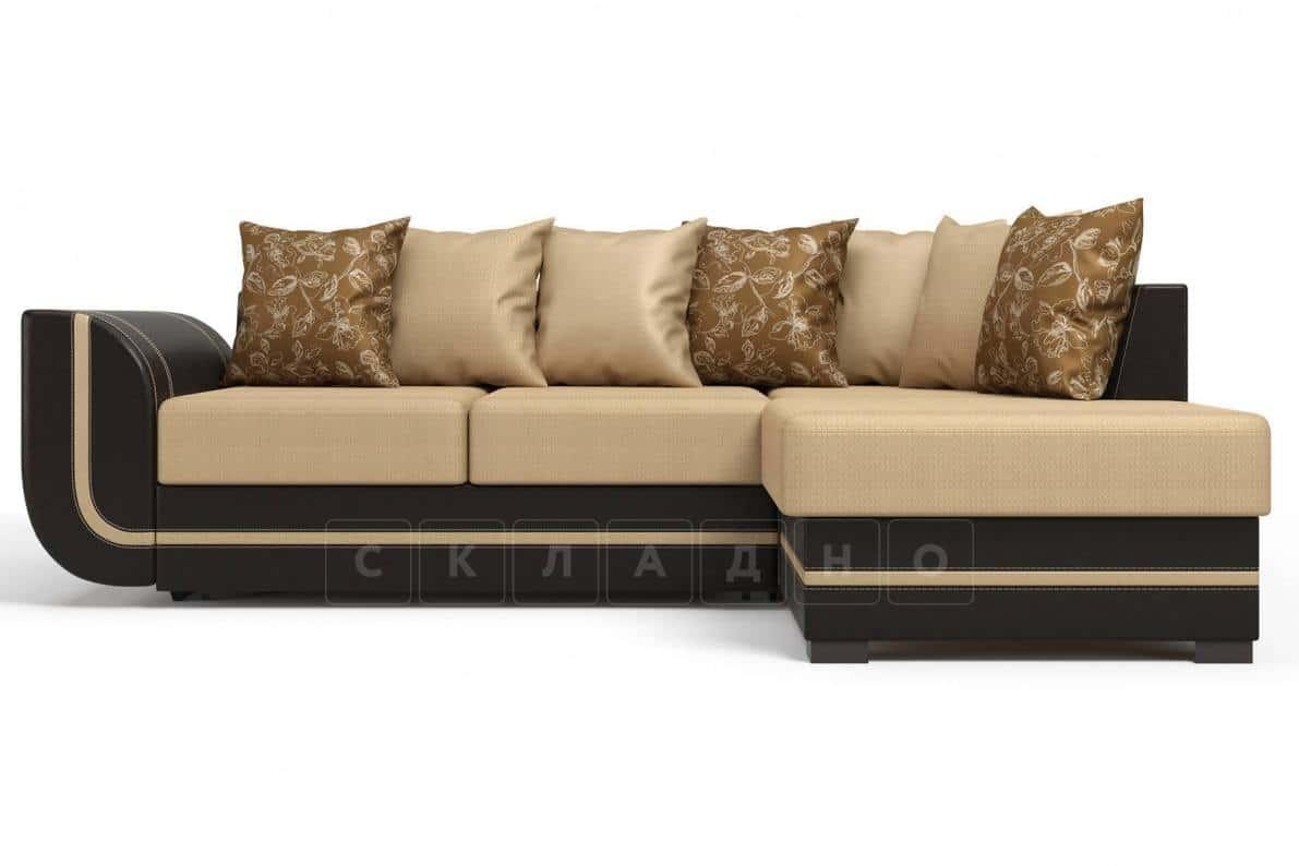 Угловой диван Чикаго коричневый правый фото 2 | интернет-магазин Складно