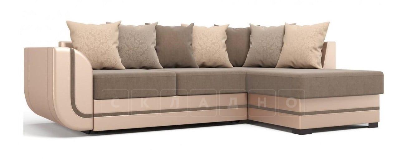 Угловой диван Чикаго песочного цвета правый фото 1 | интернет-магазин Складно
