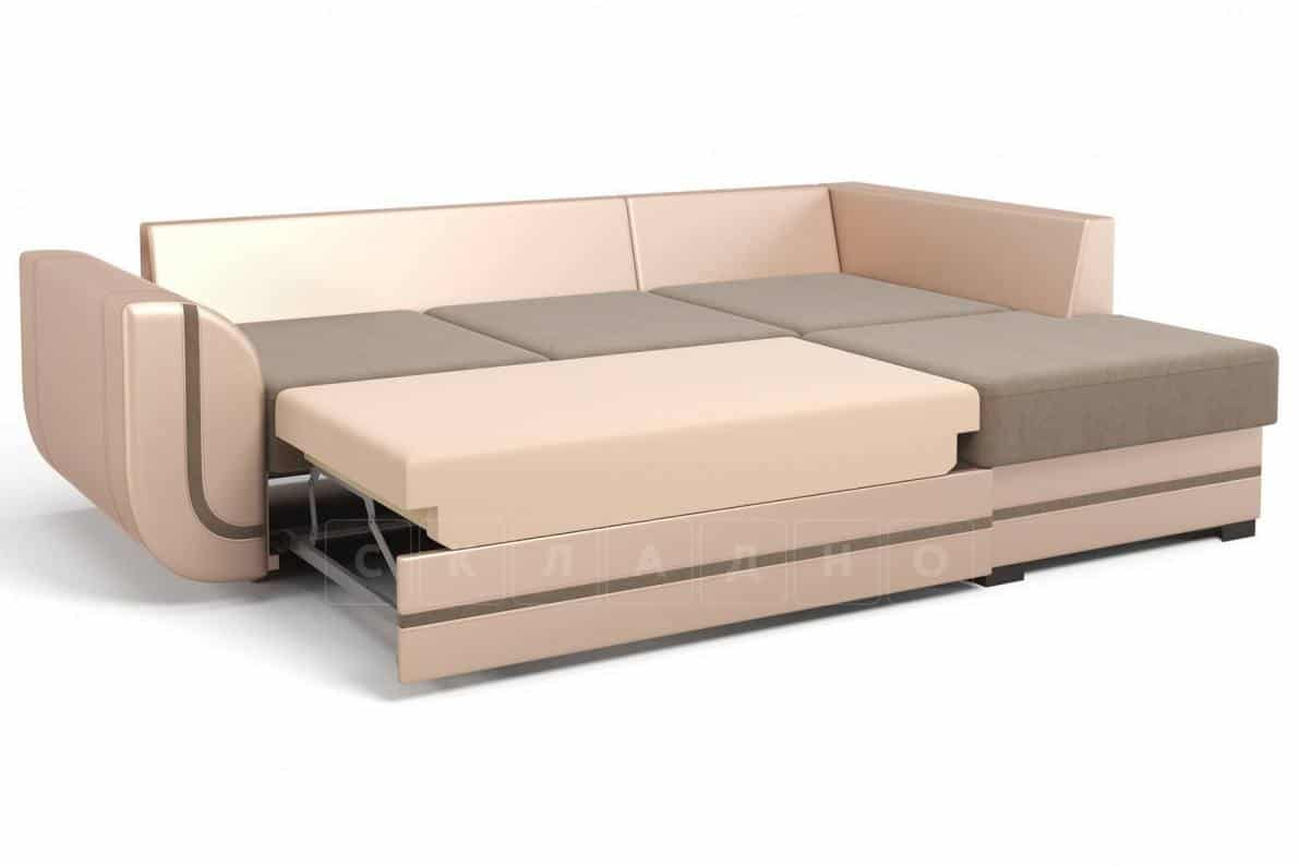 Угловой диван Чикаго песочного цвета правый фото 3 | интернет-магазин Складно