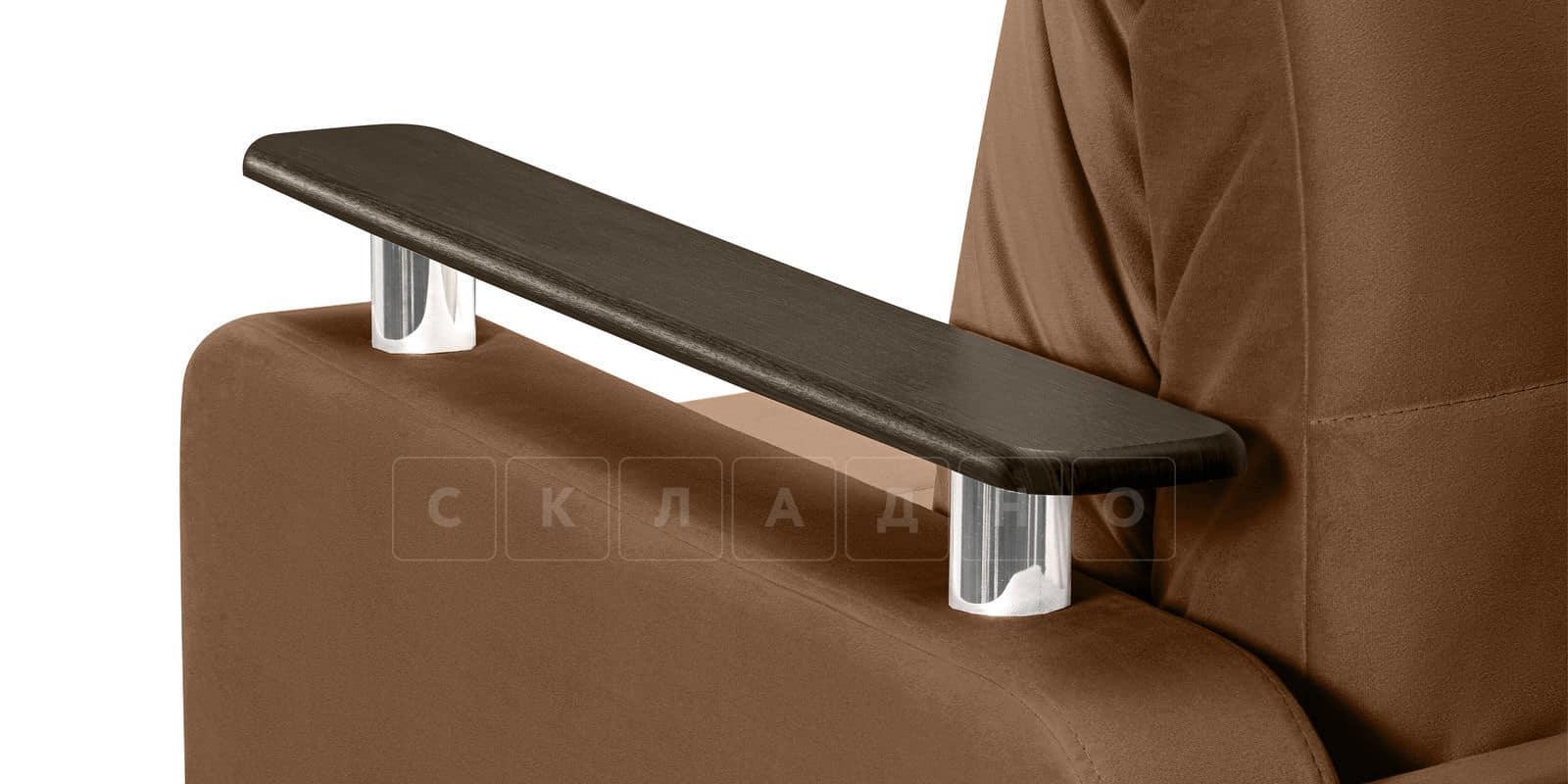 Диван прямой Денвер велюр коричневый фото 5 | интернет-магазин Складно