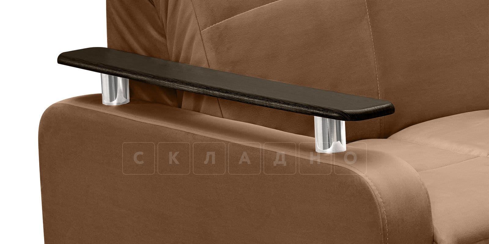 Диван прямой Денвер велюр коричневый фото 6 | интернет-магазин Складно