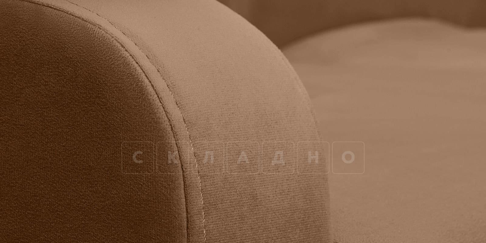 Диван прямой Денвер велюр коричневый фото 7 | интернет-магазин Складно