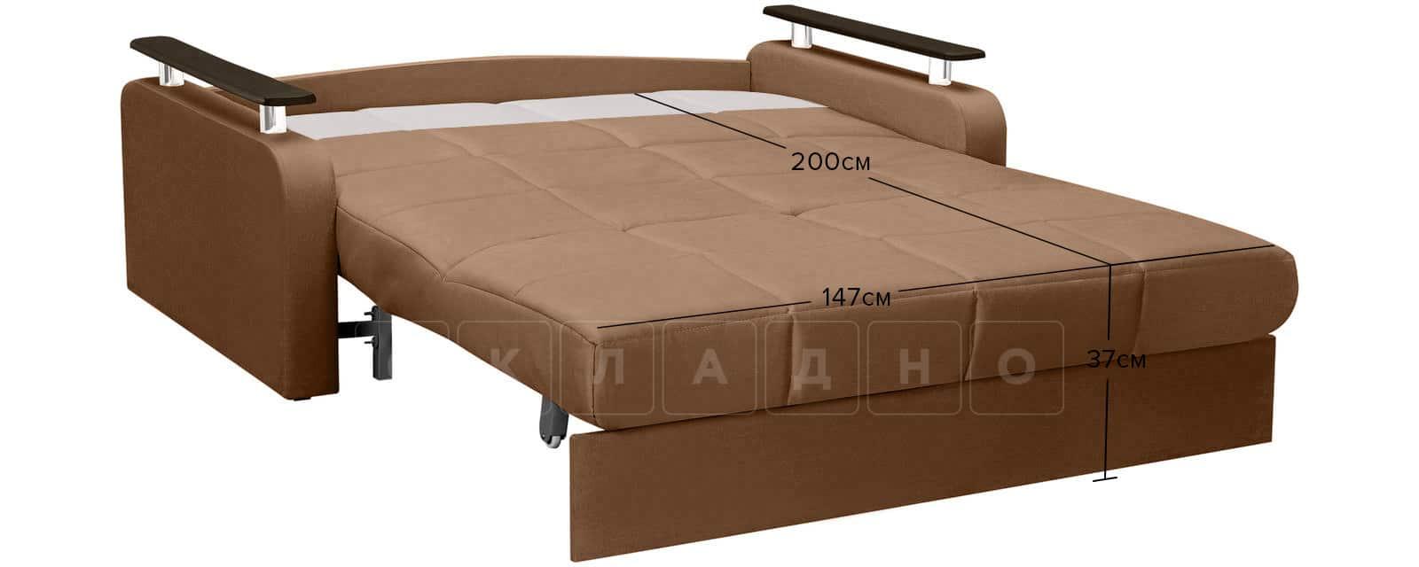 Диван прямой Денвер велюр коричневый фото 10 | интернет-магазин Складно