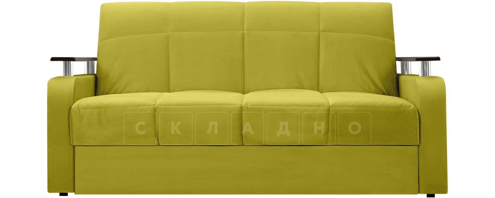 Диван прямой Денвер велюр оливковый фото 2 | интернет-магазин Складно