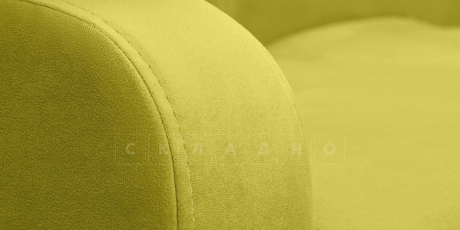 Диван прямой Денвер велюр оливковый фото 5 | интернет-магазин Складно